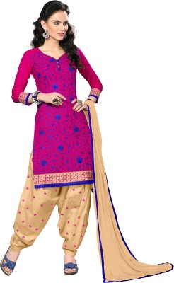 Khoobee Cotton, Jacquard Self Design, Embroidered Salwar Suit Dupatta Material