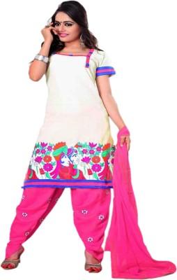 Manjaree Cotton Embroidered Salwar Suit Dupatta Material