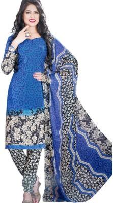Vibranz Fashion Synthetic Printed Salwar Suit Dupatta Material