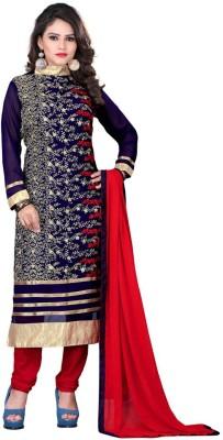 Bapa Sitaram Fashion Georgette Embroidered Semi-stitched Salwar Suit Dupatta Material