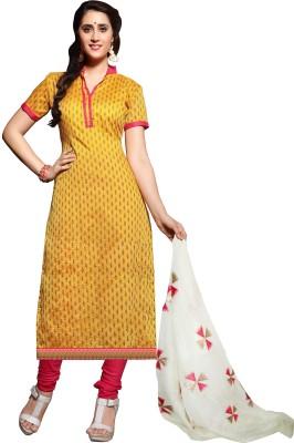 Hitansh Fashion Chanderi Printed Salwar Suit Dupatta Material