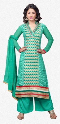 MF Brasso Embroidered Salwar Suit Dupatta Material