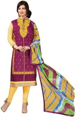 King Sales Chanderi Embroidered Salwar Suit Dupatta Material