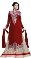 Dove Women's Clothing - Fashion Dove Georgette Embroidered Semi-stitched Salwar Suit Dupatta Material