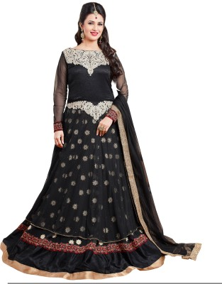 Viva N Diva Georgette, Net Embroidered Salwar Suit Dupatta Material