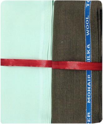 Ramkumar textile Polyester, Viscose Solid Shirt & Trouser Fabric