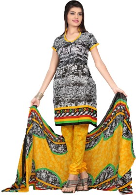Fashion India Cotton Polyester Blend Printed Dress/Top Material