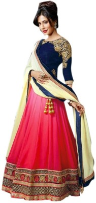 Aahira Georgette Self Design Lehenga Choli Material