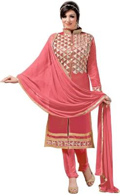 Khushali Chanderi Self Design, Embroidered Salwar Suit Dupatta Material