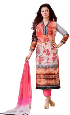 ARAADHYA CREATIONS Cotton Embroidered Semi-stitched Salwar Suit Dupatta Material(Semi-stitched)