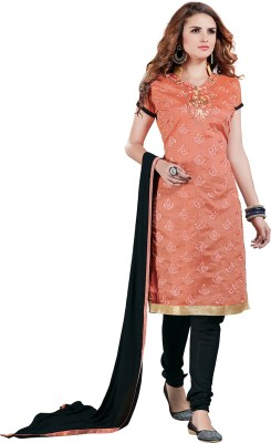 Multi Retail Chanderi Embroidered Dress/Top Material