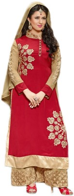 SATINTHREADS Georgette Paisley, Embroidered Salwar Suit Material
