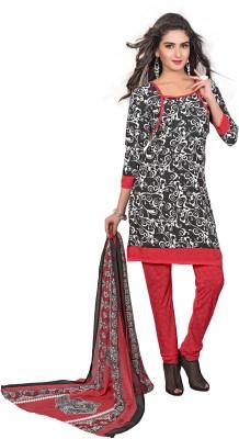 MusicMania Crepe Printed Semi-stitched Salwar Suit Dupatta Material