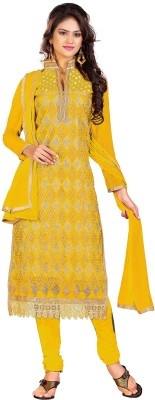 Stella Creation Chanderi Embroidered Semi-stitched Salwar Suit Dupatta Material