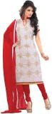 KrishnaFashion321 Chanderi Embroidered S...