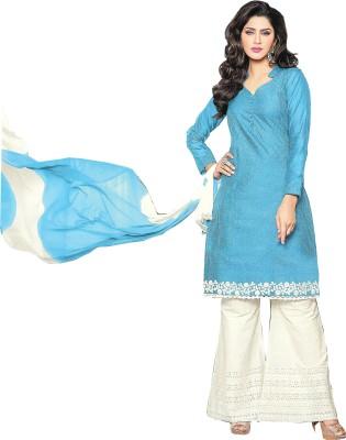 Floral Designers Chanderi Striped Salwar Suit Dupatta Material
