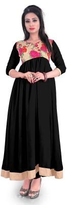 F3 Fashion Georgette Self Design Semi-stitched Salwar Suit Material