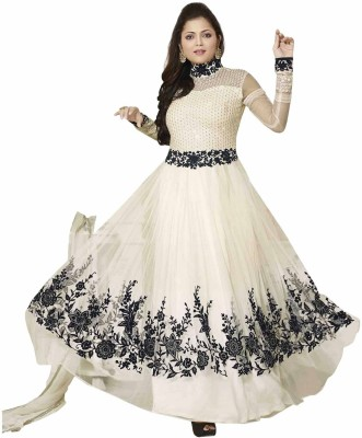 Shreeji Fashion Net Embroidered Semi-stitched Salwar Suit Dupatta Material
