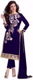 LongFashion Chanderi Embroidered Semi-st...