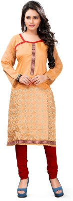 Parishi Fashion Chanderi Embroidered Kurti Fabric