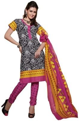 Aasvaa Cotton Printed Salwar Suit Dupatta Material