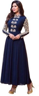 RAYCREATIONOTORE Georgette Embroidered Dress/Top Material