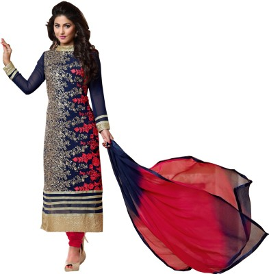 Shyamcreation9 Cotton Embroidered Semi-stitched Salwar Suit Dupatta Material