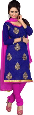 Vastrani Chanderi Embroidered Dress/Top Material