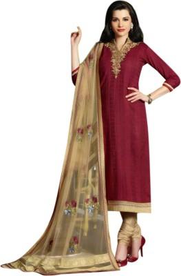 Sahej Suits Cotton Embroidered Salwar Suit Dupatta Material