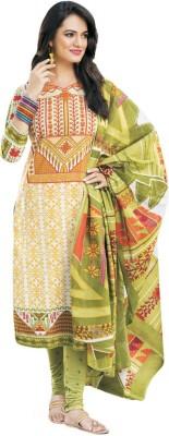 Salwar Studio Cotton Geometric Print Salwar Suit Dupatta Material