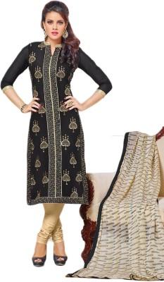 Shahlon Chanderi, Cotton, Chiffon Embroidered Semi-stitched Salwar Suit Dupatta Material