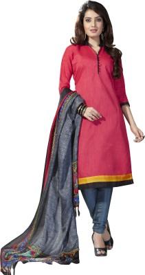 Fabgruh Silk Embroidered Salwar Suit Dupatta Material