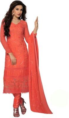 Meet Enterprise Chiffon Embroidered Salwar Suit Dupatta Material