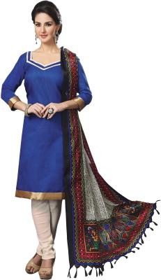 Prachi Silk Mills Jacquard, Chanderi Solid Salwar Suit Dupatta Material