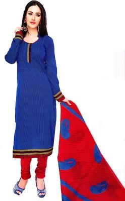 Life Style Fashion Cotton Striped Kurta & Churidar Material