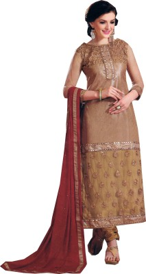 Floral Designers Georgette Embroidered Salwar Suit Dupatta Material