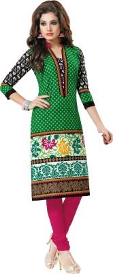 Salwar Studio Cotton Polka Print, Floral Print Kurti Fabric(Un-stitched)