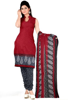 DnVeens Crepe Printed, Self Design Salwar Suit Dupatta Material(Un-stitched)