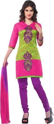 Triveni Cotton Self Design Semi-stitched Salwar Suit Dupatta Material