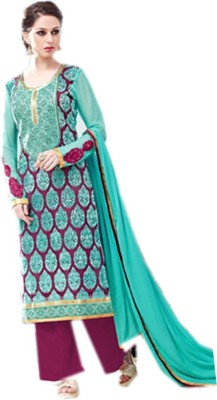 Fab Craft Georgette Embroidered Salwar Suit Material