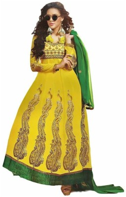Royal N Rich Georgette Embroidered Salwar Suit Dupatta Material