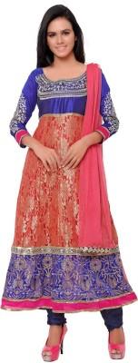 JENNYFASTER Net Embellished Semi-stitched Salwar Suit Dupatta Material