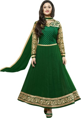 Bordabrothers Georgette Embroidered Semi-stitched Salwar Suit Dupatta Material
