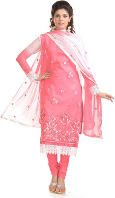 Khushali Cotton Self Design, Embroidered Salwar Suit Dupatta Material