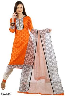 CultureStitch Jacquard Embroidered Salwar Suit Dupatta Material
