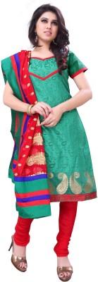 Nine Threads Jacquard Embroidered Semi-stitched Salwar Suit Dupatta Material