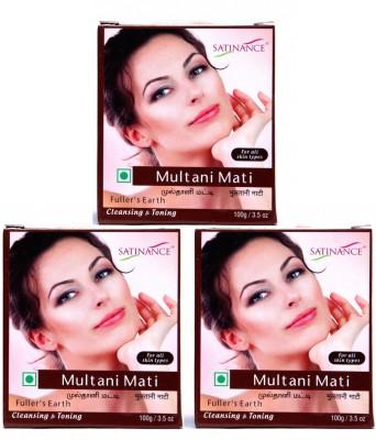 Satinance Multani Mati (Fullers Earth) 100gm - Pack of 3