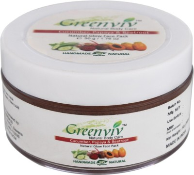 Greenviv Natural Glow Face Pack - Cucumber