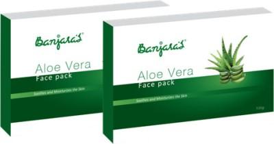 Banjaras Face Pack Aloevera 20g X 5 Set Of 2 Pack