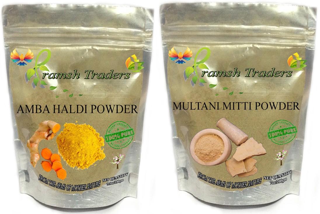 Pramsh AMBA HALDI 100GM + MULTANI MITTI 200GM POWDER(300 g)